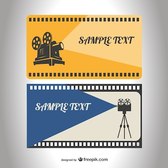 Retro film reel template
