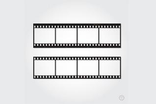 Retro film strip cut out ready