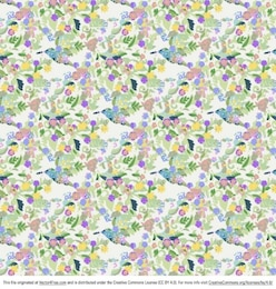Retro floral background with funky flowers