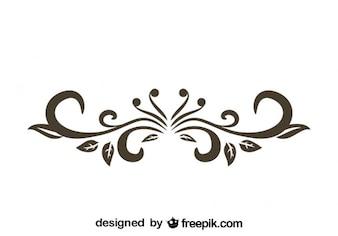 Retro Floral Decorative Text Divider Design