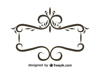 Retro Floral Frame Stilish Design