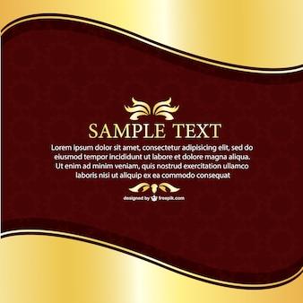 Retro floral invitation template