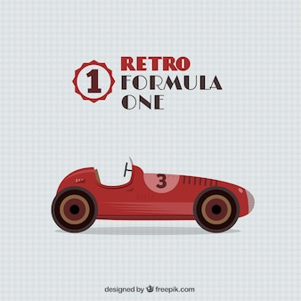 Retro formula one car
