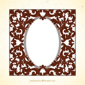 Retro frame with ornaments