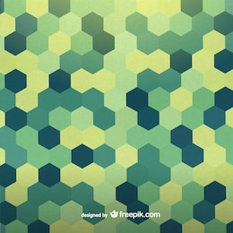 Retro geometric hexagon design