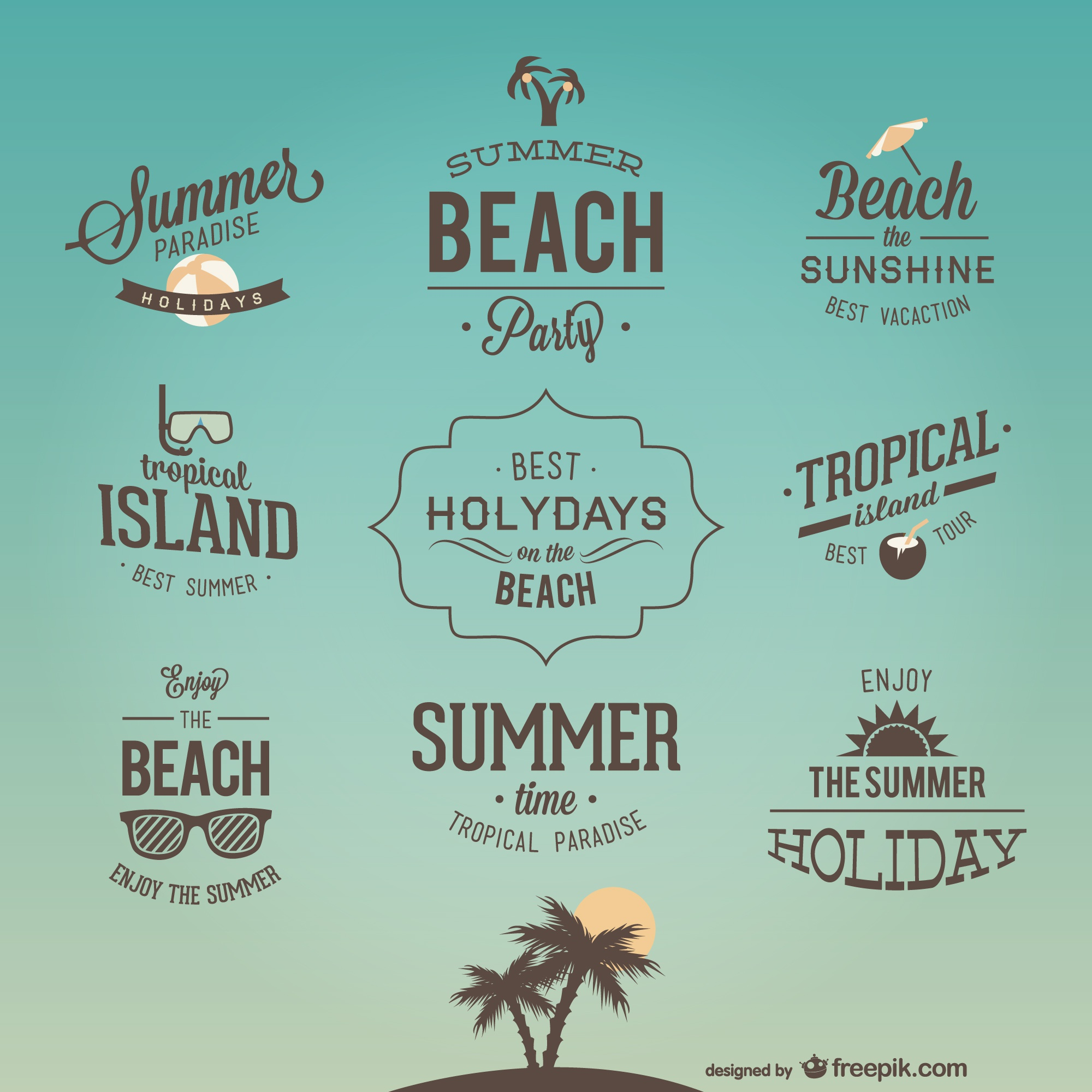 Retro holiday lettering designs