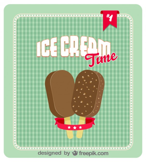 Retro Ice Cream Poster Design