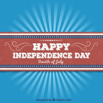 Retro independence day card