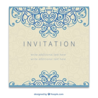 Retro invitation in ornamental style