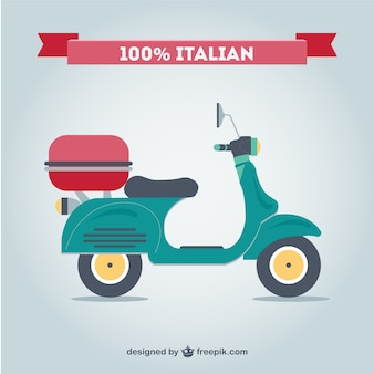 Retro Italian motorcycle free vector