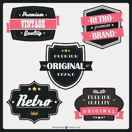 Retro label image