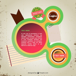 Retro labels vector infography