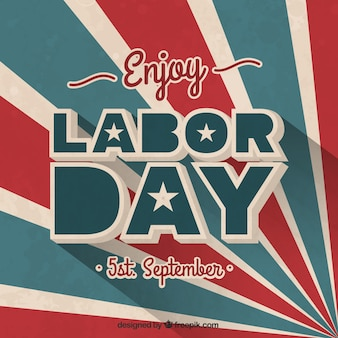 Retro labor day card