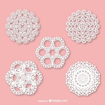Retro lace ornaments set