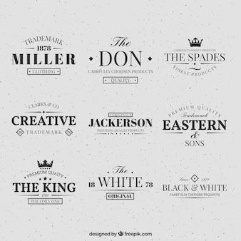 retro logos collection