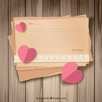 Retro love letter