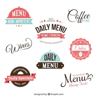 Retro menu badges