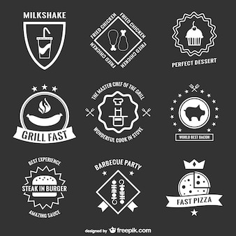 Retro menu stickers and badges collection