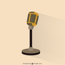 Retro microphone illustration