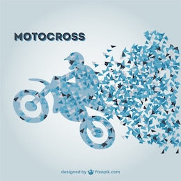 Retro motocross vector template