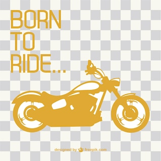 Retro motorcycle ride vector
