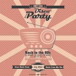 Retro music party vector