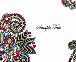 retro pattern card background vector graphic