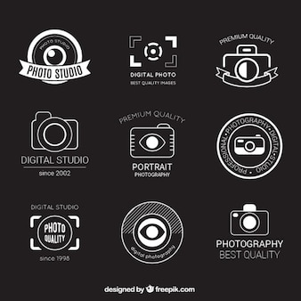 Retro photography badges