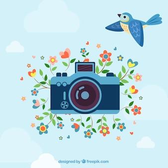 Retro photography illustration