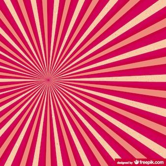 Retro pink sunburst vector