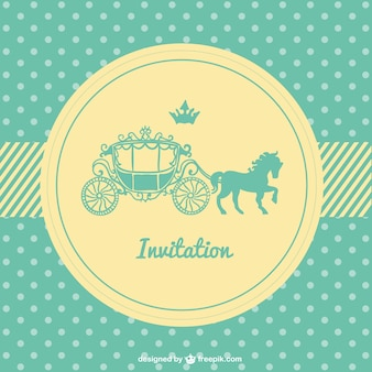 Retro polka dots wedding card
