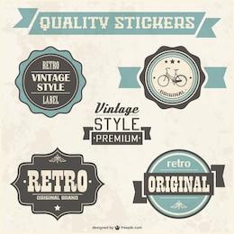 Retro quality badges