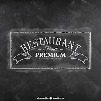 Retro restaurant badge