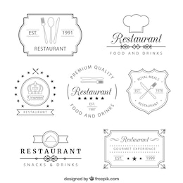 Retro restaurant insignias