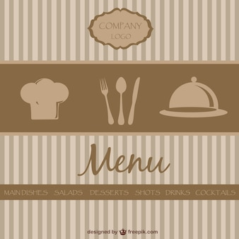 Retro restaurant menu vector design