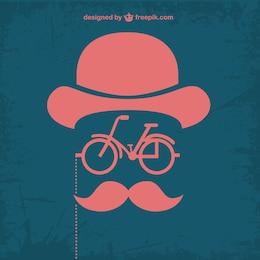 Retro retro hipster bicycle design