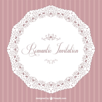 Retro romantic vector invitation