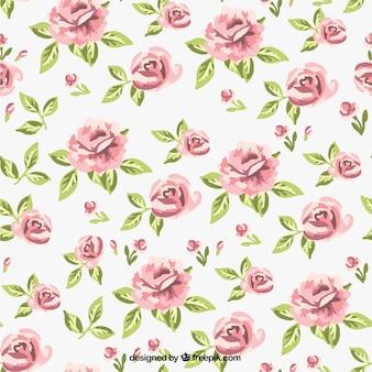 Retro roses pattern