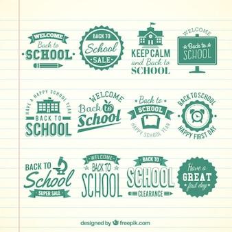 Retro school badges