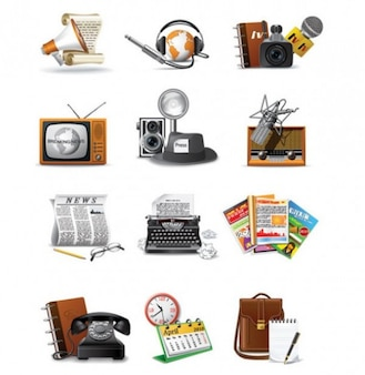 retro set of 60 communication vector