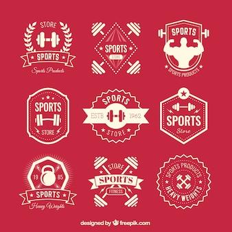 Retro sport badges