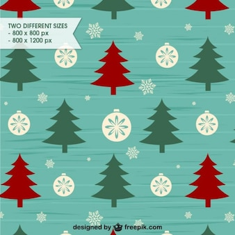 Retro style Christmas background pattern
