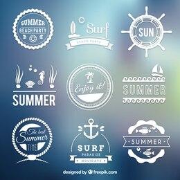 Retro summer badges