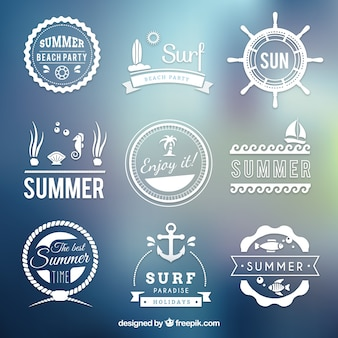 Retro summer badges
