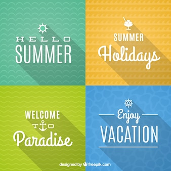 Retro summer cards