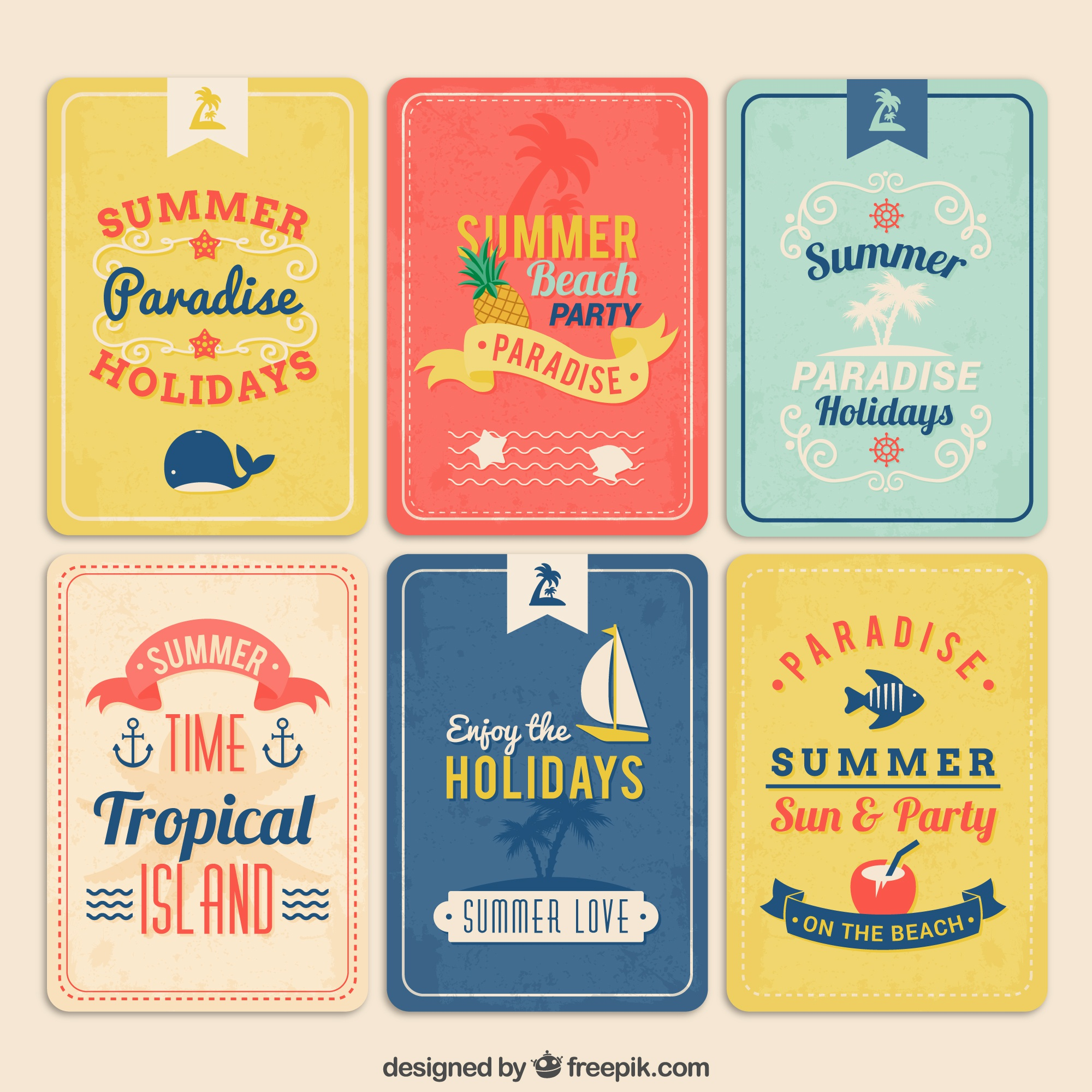 Retro summer posters