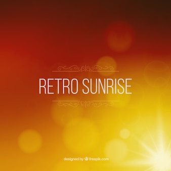 Retro sunrise blurred background