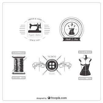 Retro tailor badges