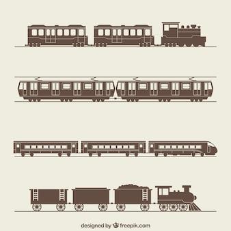 Retro trains collection