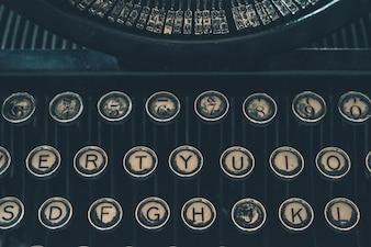 Retro Typewriter Closeup